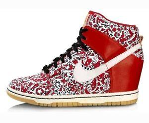 Nike Dunk Sky HI LIB NRG Liberty of London Women s US 9 Red 529040 ... bb5e317f67