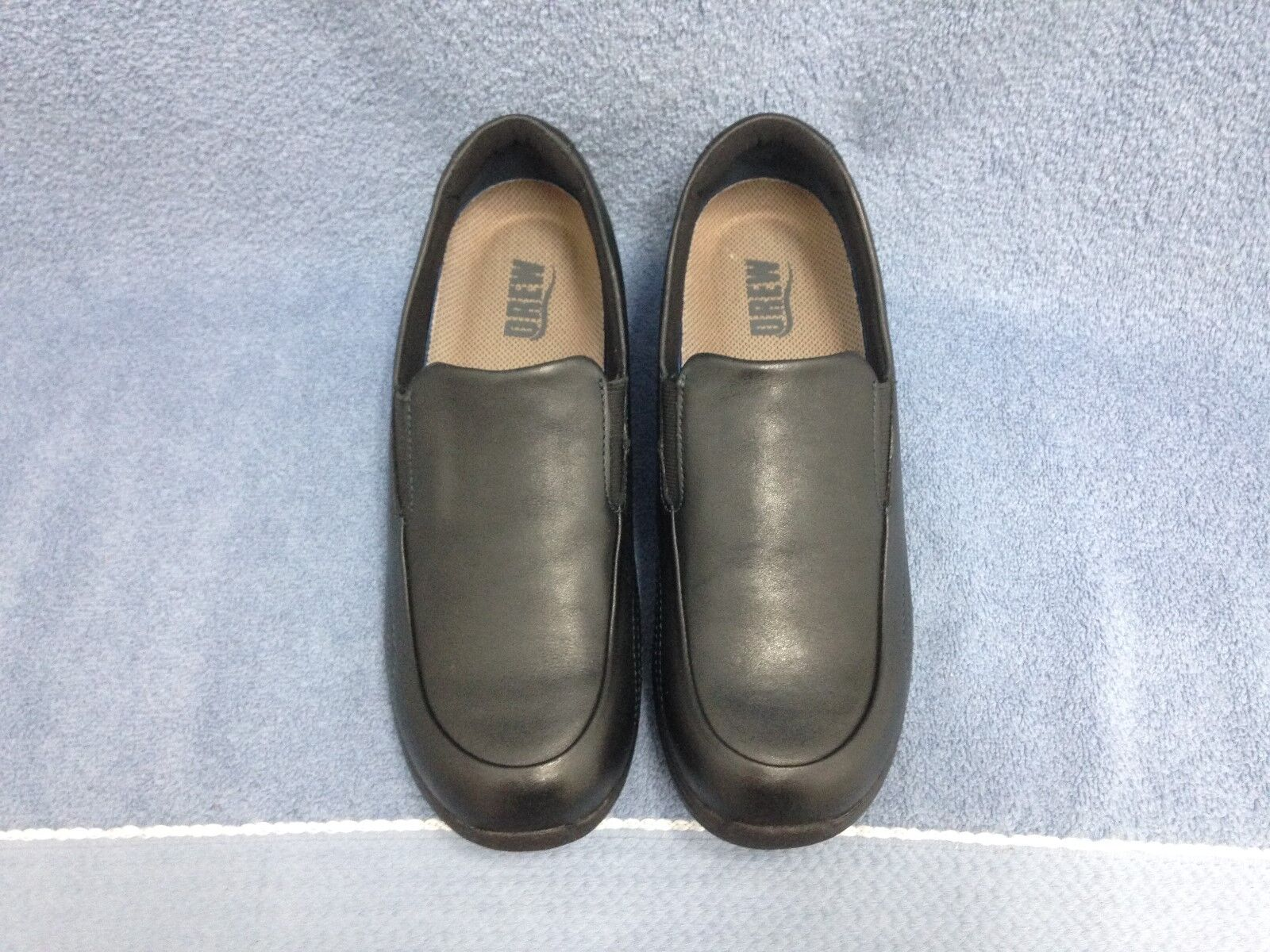 DREW  purple  BLACK LEATHER LEATHER LEATHER SLIP-ONS ORTHOTIC WOMENS SIZE 7 1 2 M (NEW) a98fcc