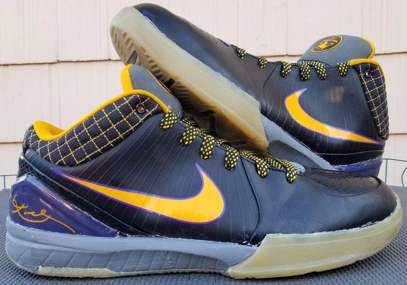2008 Nike Zoom Kobe IV 4 Carpe Diem Hommes sol/cool sz 14 noir /del sol/cool Hommes gris 344335-001 2eba86