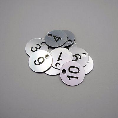 100x3cm Laser Engraved Number Discs Locker Club Tags Restaurant Table Pub