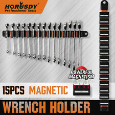 16 Super Magnetic Wrench Holder Tool Organizer Adjustable Wall Hang 15 Spanner