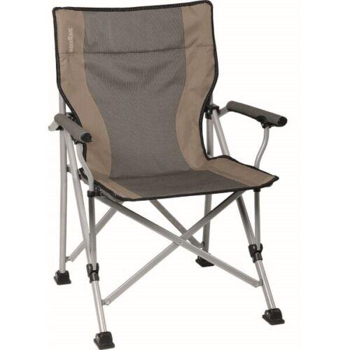 Brunner Raptor Classic Folding Camping Chair /& Carry Bag Padded Armrests Beige