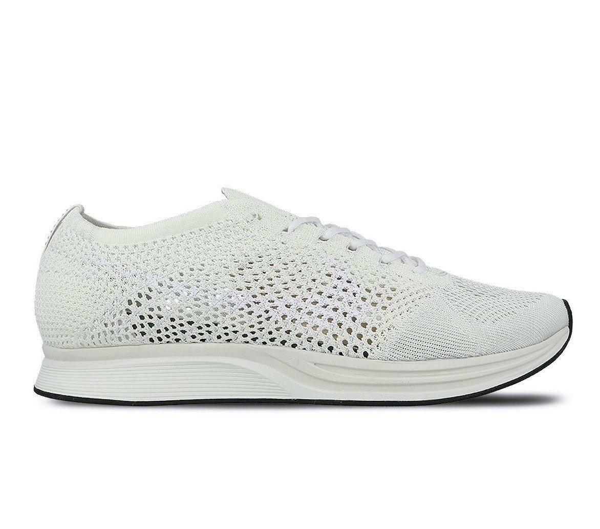 Mens Nike Flyknit Racer White Running Trainers 526628 100