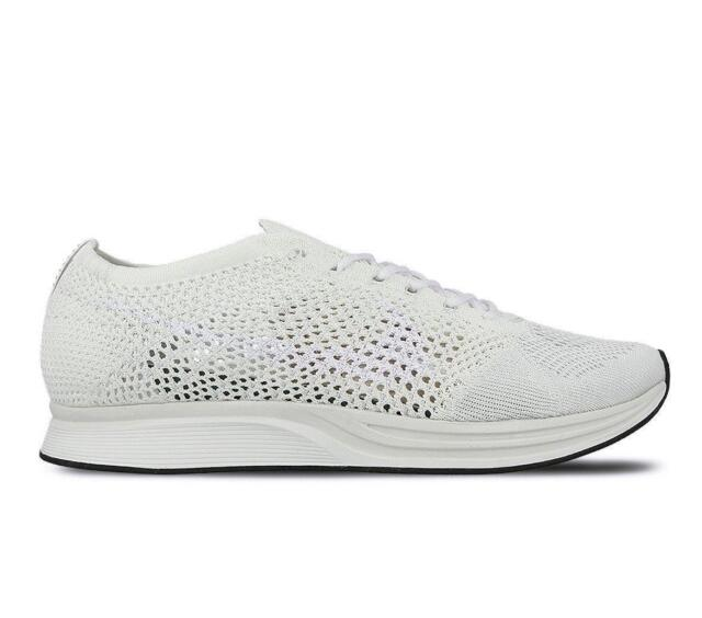 eb368be575620 ... coupon code mens nike flyknit racer white running trainers 526628 100  ff0b7 7b0da