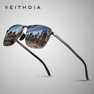 04e00e758adc5 Image is loading VEITHDIA-HD-Polarized-Driving-Sunglasses-Men-UV400-Pilot-
