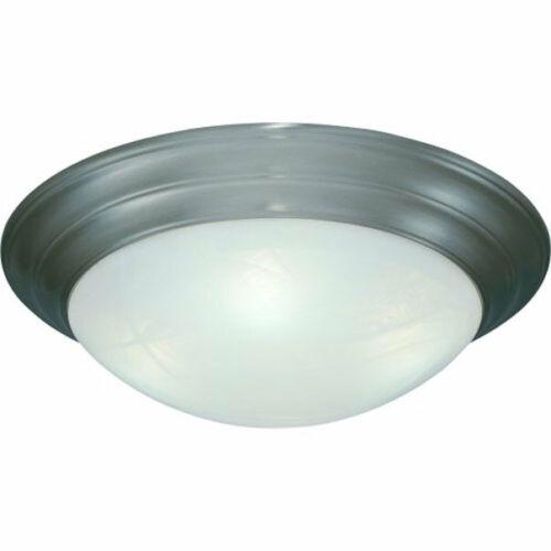 "New Cordelia 16-3//4/""  3-Light  Flushmount Ceiling Fixture in Satin Nickel"