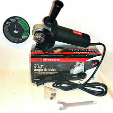 "DRILL MASTER 4.3 AMP 4-1/2"" ANGLE GRINDER WITH 0NE 24 GRIT GRINDING WHEEL"