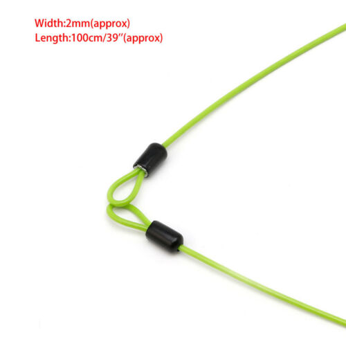 100 cm x 2mm Fahrrad Sicherheitsschleife Kabelschloss Roller Schutz U-Lock