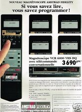 Publicité advertising 1988 Hi-Fi Magnetoscope Amstrad VCR 6000 VHS