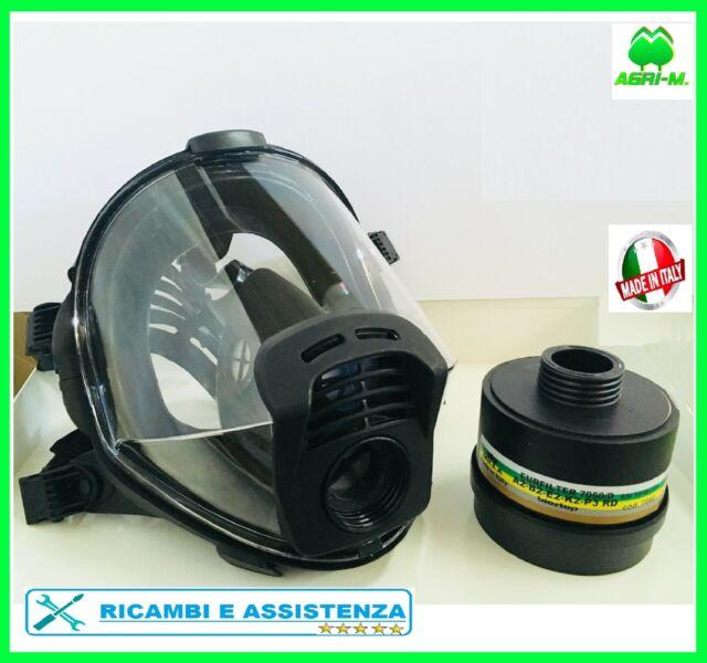 Maschera Panoramica  con filtro A B E K  2 P3  R Pieno facciale Panarea EN 148