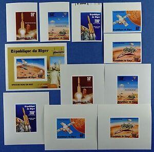 Space-Raumfahrt-1977-Niger-Viking-565-569-U-Block-16-U-Deluxe-Imperf-MNH-1216