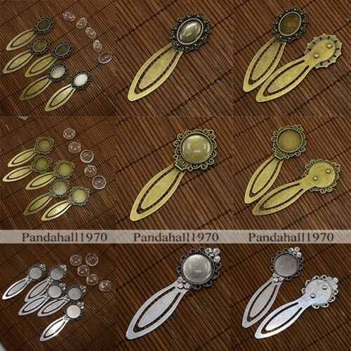 5 Sets Clear Domed Glass Cabochon Cover For DIY Alloy Portrait Bookmark Making