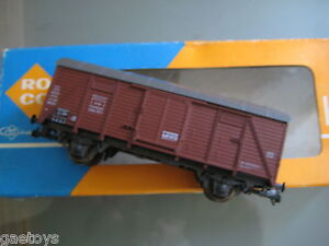 Train-HO-ROCO-Wagon-couvert-a-essieux-DB-Ref-4310