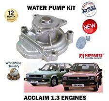 FOR TRIUMPH ACCLAIM EN4 ENGINE + HONDA CIVIC 1.3 1980-1984 NEW WATER PUMP KIT
