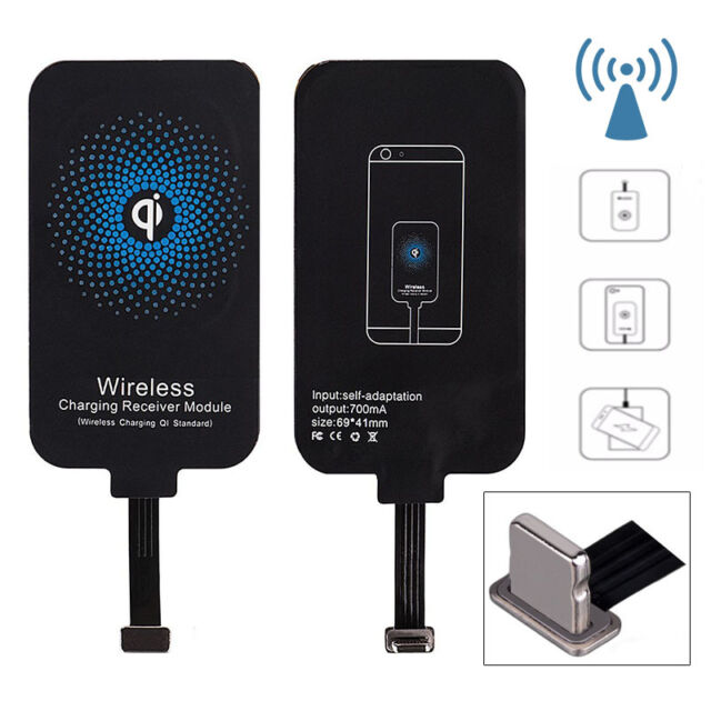 Qi Wireless Charger Charging Receiver Kit Pad Adapter For iPhone & Samsung Best