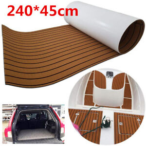 Teak-EVA-Schaum-Boot-Yacht-Bodenbelag-Matte-Deck-Teppich-Selbstklebend-240x45cm