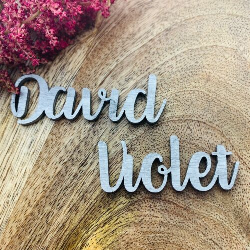 Wooden Table Name Wooden Wedding Place Name Wooden Cut Out Names