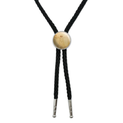 Leonardo Da Vinci The Vitruvian Man Western Southwest Necktie Bow Bolo Tie
