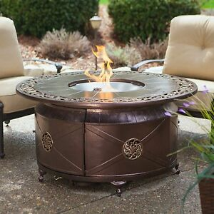Image Is Loading Fire Pit Table Burner Patio Deck Outdoor Fireplace