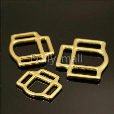 """Size 1 1//2/"""" LOT 12 SOLID BRASS Double Bar Buckles  #147 Leather Hardware"""