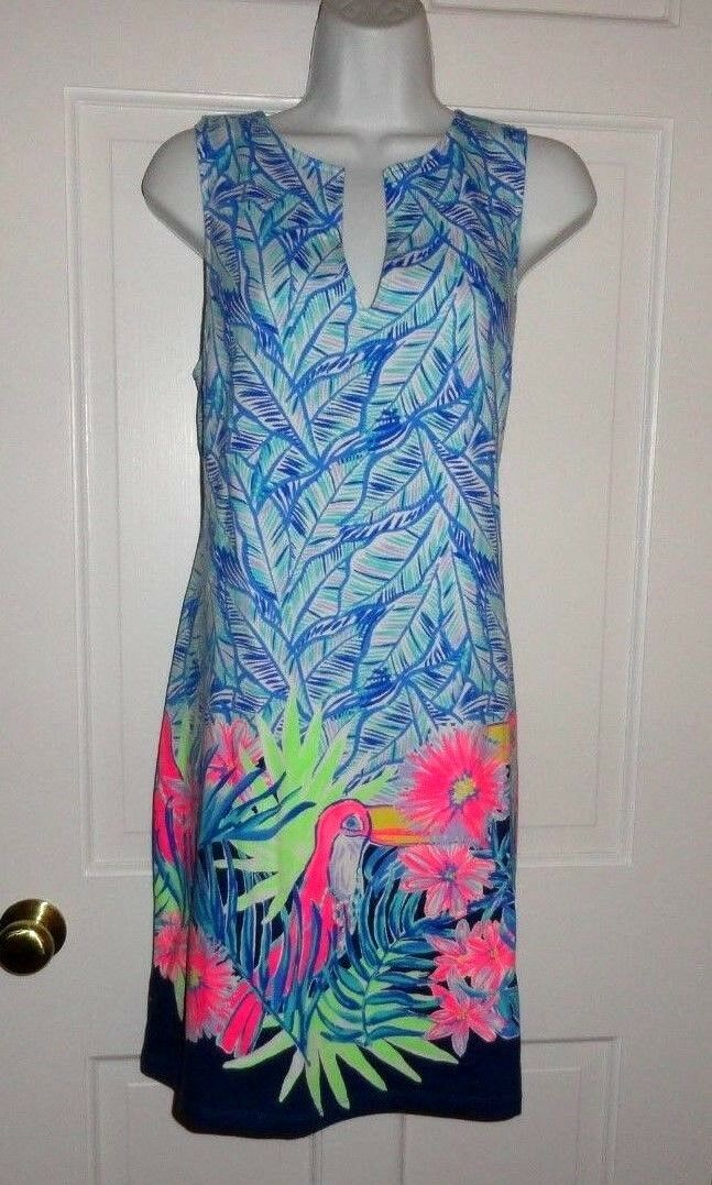 NWT LILLY PULITZER BENNET blueE LETS MANGO ENGINEERED HARPER SHIFT DRESS