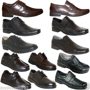 6503eaa304d5 MENS SMART FORMAL SHOES FAUX LEATHER CASUAL OFFICE WEDDING DRESS ...