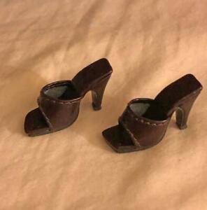 Shoes-Sandals-for-16-034-Tyler-Gene-Sydney-Dolls-Slip-on-Kingstate-Dark-Brown-HTF
