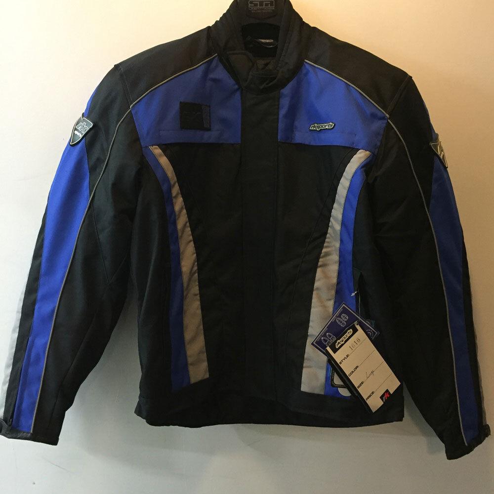 RK Deportivo 1616 blue black,whiteo Textil Impermeable Chaqueta moto motocicleta