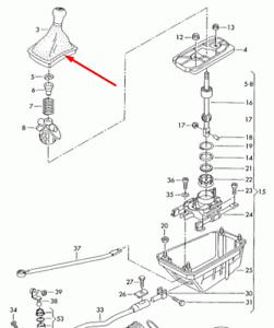 VW-PASSAT-B5-Manual-6-Speed-Gear-Shift-Knob-3B0711113AKFEU-NEW-GENUINE