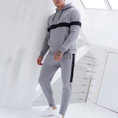 Men/'s Hoodie Tops Trousers Pants Tracksuit Sweatsuit Set Jumpsuit Casual Fitness