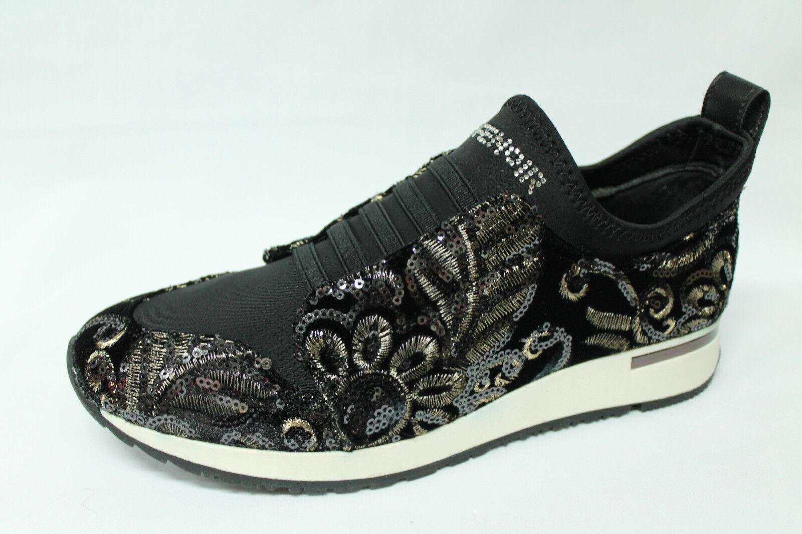 Schuhe sneakers Café Noir LDL901 nero damascato paillettes listino - 30%