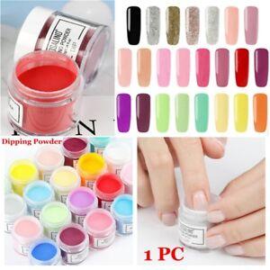 10g-Box-Tauchpulver-Nagel-Glitter-Pulver-Chrom-Pigment-Staub-trocken-Nail-Art-HQ