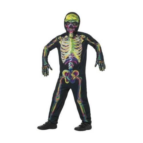 Boys Glow In the Dark Skeleton Kids Halloween Fancy Dress Costume