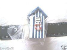 BEACH HUT CORD PULL LIGHT SWITCH TOILET BATHROOM SWITCH BLUE WHITE SEASIDE HOUSE
