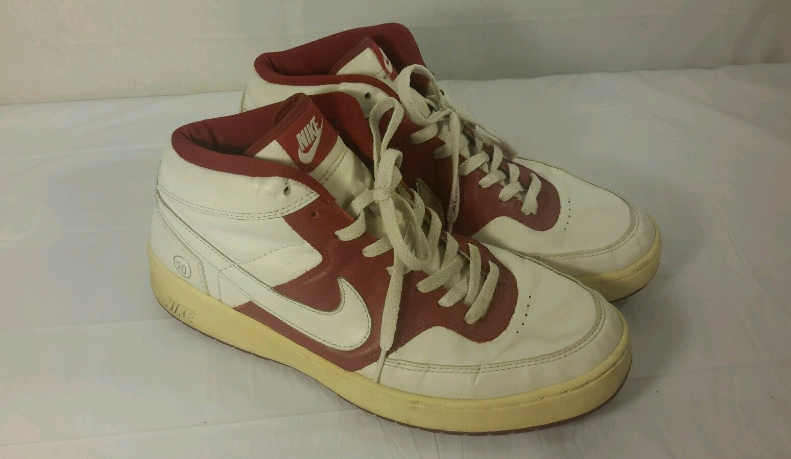 Men's Nike Twenty Red White High Top Athletic Shoes Comfortable  Seasonal price cuts, discount benefits