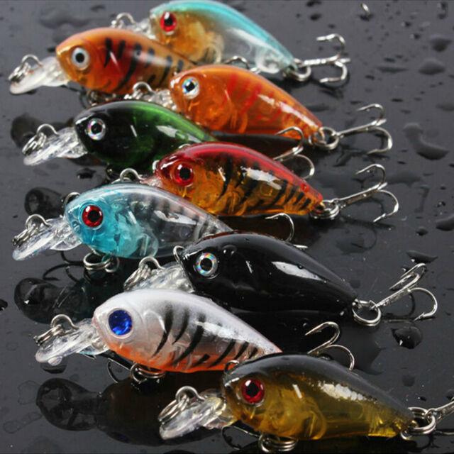 Fishing Lures Baits Vivid Crankbaits Hooks Minnow Baits Tackle 4.5cm/4g  LJ