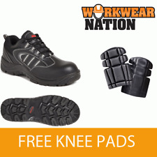 Airside Non Metallic Leather Safety Work Trainer Water Resistant Free Knee Pads
