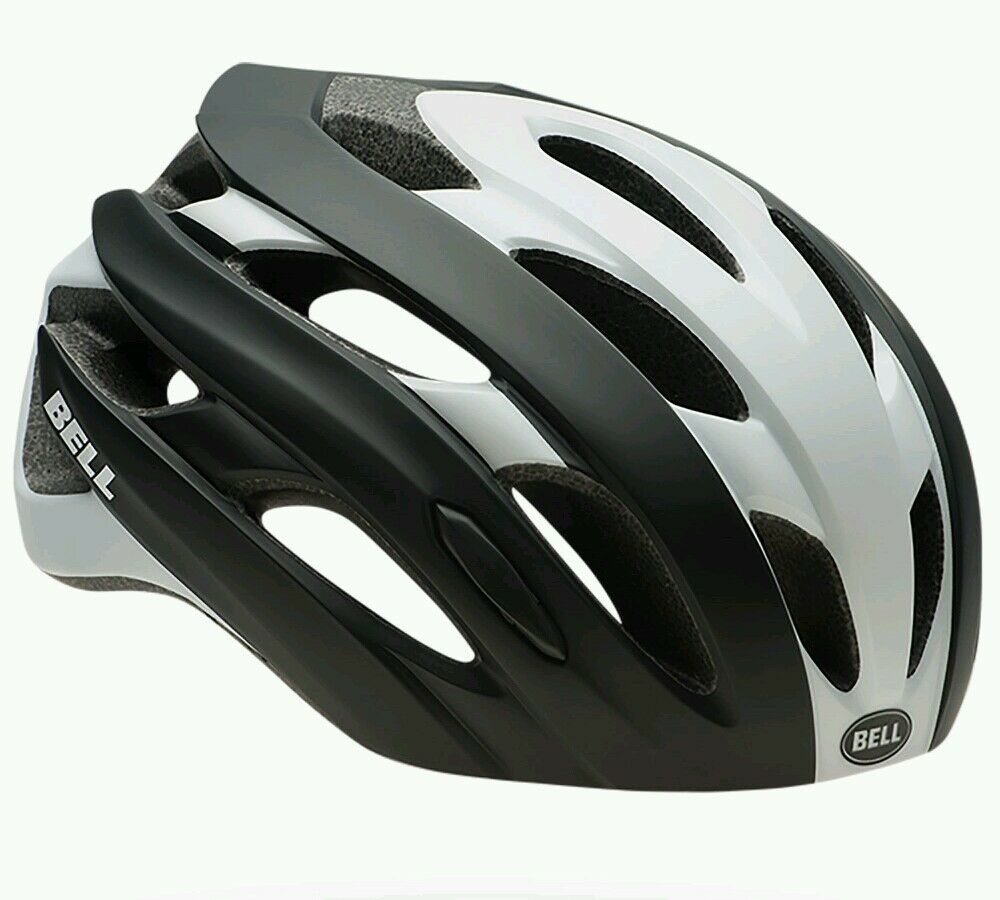 Bell Event Nero & Bianco Blocco STRADALE Ciclismo Casco-Large 58-62 cm RRP .99