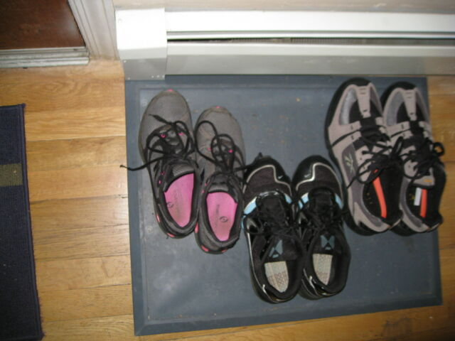 Rubber Boot Shoe Tray Floor Mat With Lip Grey Extra