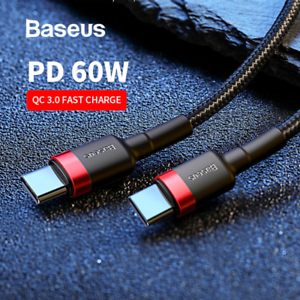 Baseus-USB-Type-C-to-USB-C-Cable-QC3-0-60W-PD-Quick-Charge-Cable-Fast-Charging