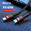 Baseus-USB-Type-C-to-USB-C-Cable-QC3-0-60W-PD-Quick-Charge-Cable-Fast-Charging thumbnail 1