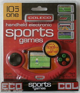 Coleco-10-in-1-Sports-Games-LCD-Handheld-and-Plug-amp-Play-Coleco-2006-NEW