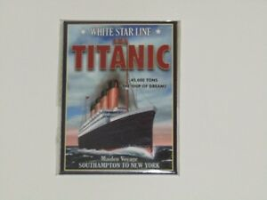 Titanic White Star Ship Vintage 4 x Aimants de réfrigérateur A