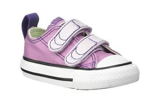 Converse All Star 2V InfantToddler Ox Powder PurpleGreen 2