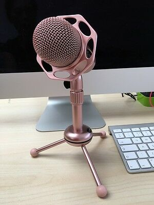 Rose Gold Podcast Studio Desktop Microphone MIC for Skype MSN PC Mac Laptop