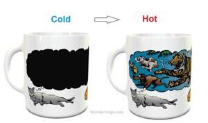 Wondermugs Color Changing Cat Dreams Coffee Cup Mug