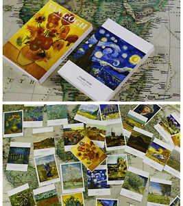 Lot-30-pcs-Van-Gogh-Famous-Paintings-Postcards-Starry-Night-Sunflowers-Bulk-15