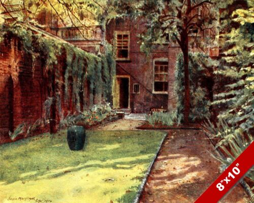 CARLYLE HOUSE ENGLAND ENGLISH GARDEN LANDSCAPE ART PAINTING REAL CANVAS PRINT