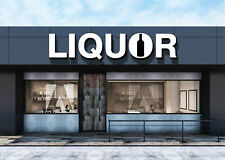 Logo Liquor Sign Modern Led Illuminated Channel Letters Facade Outdoor Sign 16