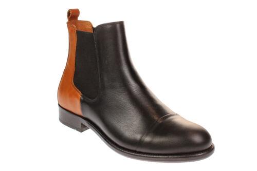 206001 Points Damen Schuhe Diana black Boots Chelsea 123 cognac Ten TfqZw5q